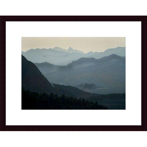 Barewalls Distant Peaks by John K. Nakata Framed Photographic Print