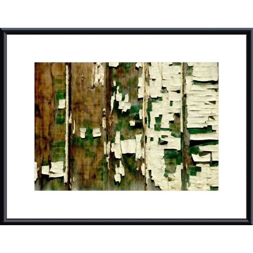 Barewalls Paint Chip and Wood Abstract by John K. Nakata Framed Photographic Print