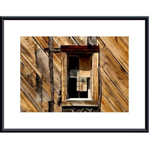 Barewalls Window and Wall by John K. Nakata Framed Photographic Print