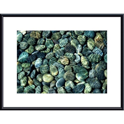 Barewalls Pebbles Abstract by John K. Nakata Framed Photographic Print