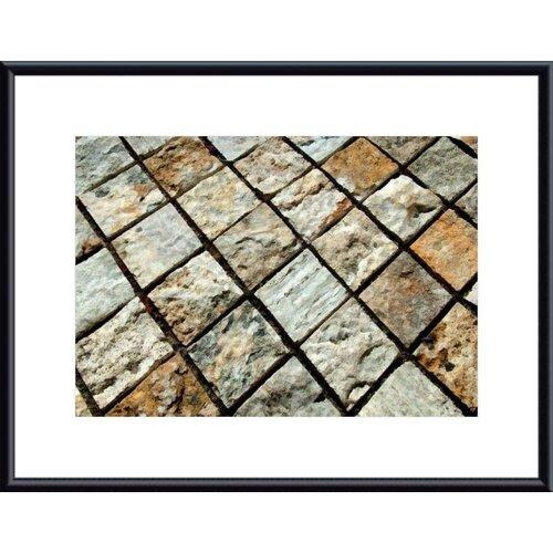 Barewalls Diamond Tiles by John K. Nakata Framed Photographic Print