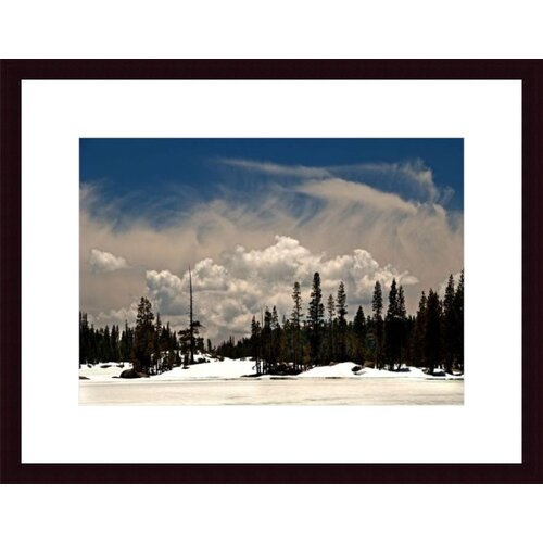 Barewalls Clouds and Snow by John K. Nakata Framed Photographic Print