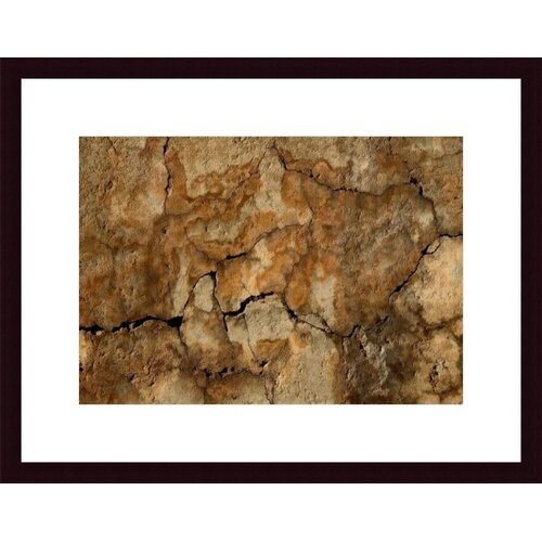 Barewalls Cracked Wall Abstract by John K. Nakata Framed Photographic Print