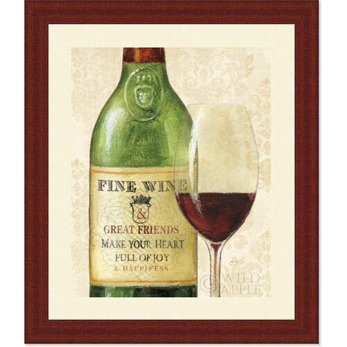 Barewalls 'Wine Quotes I' by Daphne Brissonnet Framed Graphic Art
