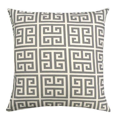 Greek Key Cotton Pillow