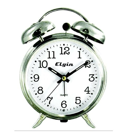Elgin Quartz Analog Metal Twin Bell Alarm Clock