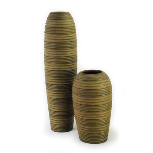 New Rustics Home Sedona Pottery Cylinder Striped Vase