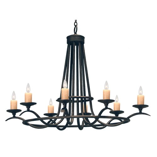 2nd Ave Design Octavia 8 Light Chandelier