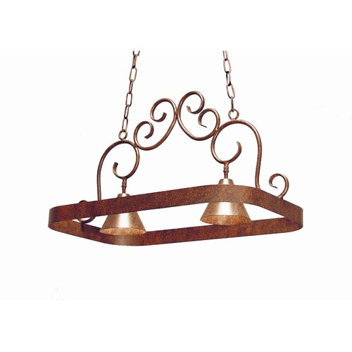 Elana 2 Light Hanging Pot Rack