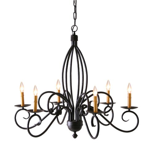 2nd Ave Design Squire 6 Light Chandelier