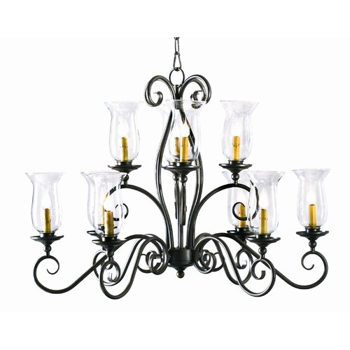 2nd Ave Design Wallis Oval 10 Light Chandelier