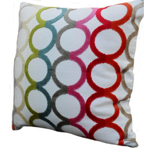 Rennie & Rose Design Group Modern Circles Throw Pillow