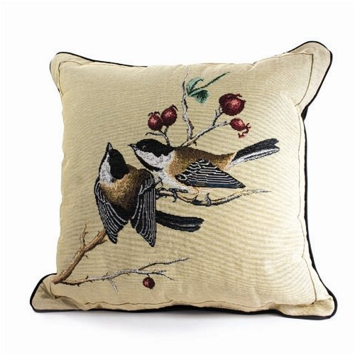 Rennie & Rose Design Group Bird Watchers Chickadee Pillow
