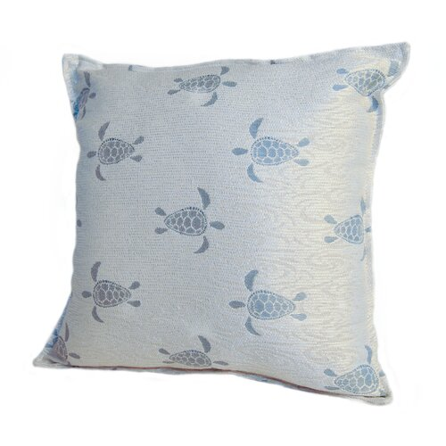 Rennie & Rose Design Group Coastal Sea Turtle Pillow
