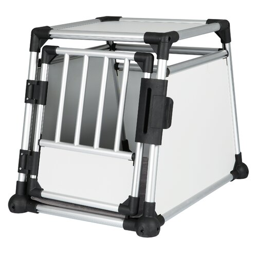 Trixie Pet Products Scratch-Resistant Metallic Pet Crate