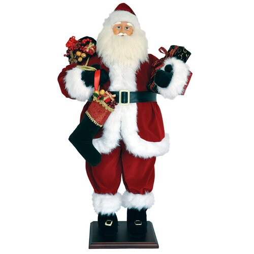 Traditional Santa Figurine