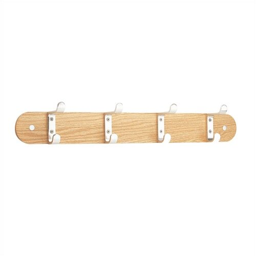Peter Pepper Wood Mounting Bar for 4 Coat Hooks