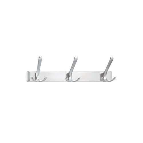Peter Pepper 3 Hook Extruded Aluminum Coat Rack