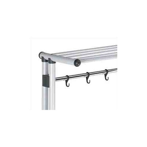 Peter Pepper 69'' H x 39.38'' W x 19.63'' D Coat Rack with 5 Hooks, Shelf, and Hanger Bar