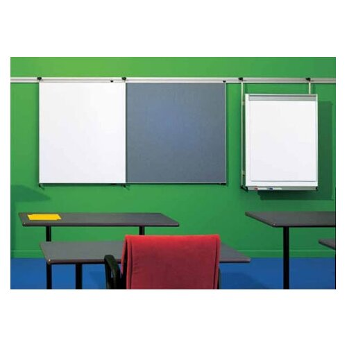 "Peter Pepper Tactics Plus® Track Mounted Level 2 Flip Chart 3'6"" x 2'8"" Whiteboard"