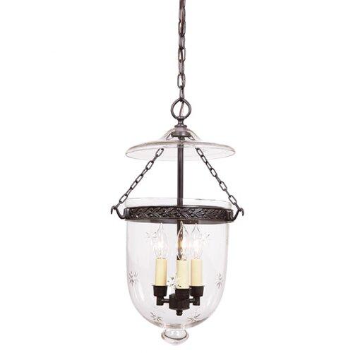 jvi designs 3 light medium bell jar foyer pendant with star glass. Black Bedroom Furniture Sets. Home Design Ideas