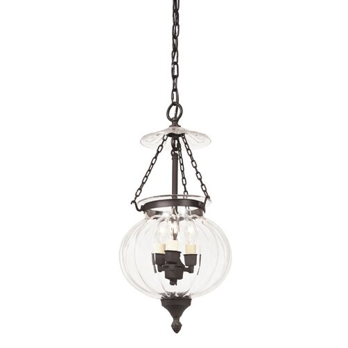 JVI Designs 3 Light Melon Jar Foyer Pendant