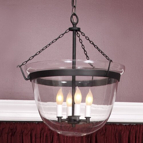 Large Bell 4 Light Foyer Pendant