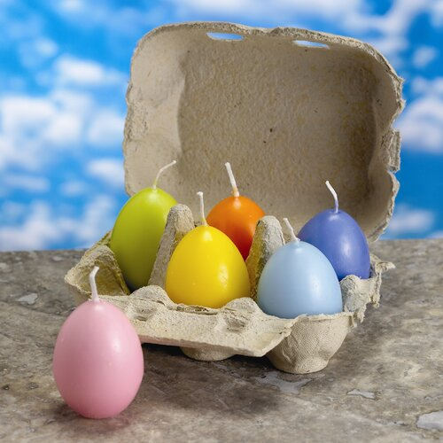 Biedermann and Sons Pastel Egg Candle (Set of 12)