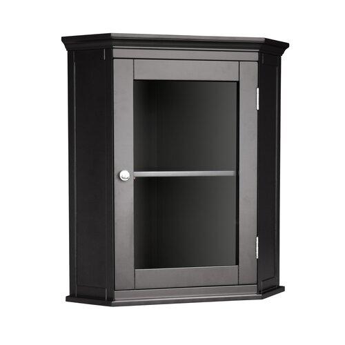 Elegant Home Fashions Madison Avenue Dark Corner Wall Cabinet