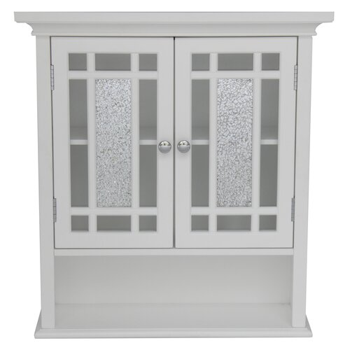 Elegant Home Fashions Windsor Wall Cabinet with 2 Doors and 1 Shelf