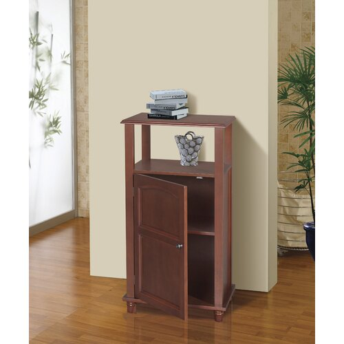 Elegant Home Fashions Martha Floor Cabinet 1 Door and Open Shelf