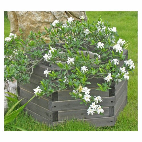 Elegant Home Fashions Hexagon Garden Barrel Planter