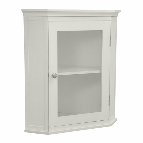 Elegant Home Fashions Madison Avenue Corner Wall Cabinet