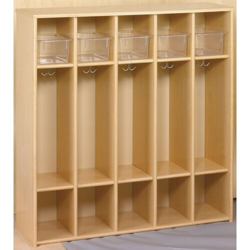 TotMate Eco Laminate Preschool Locker with Trays