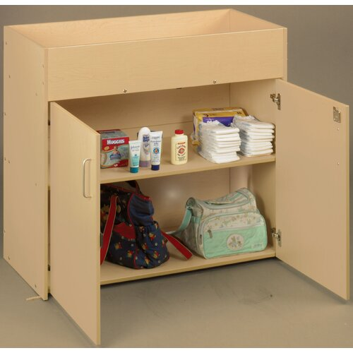 TotMate Eco Laminate Infant Changing Table with Doors
