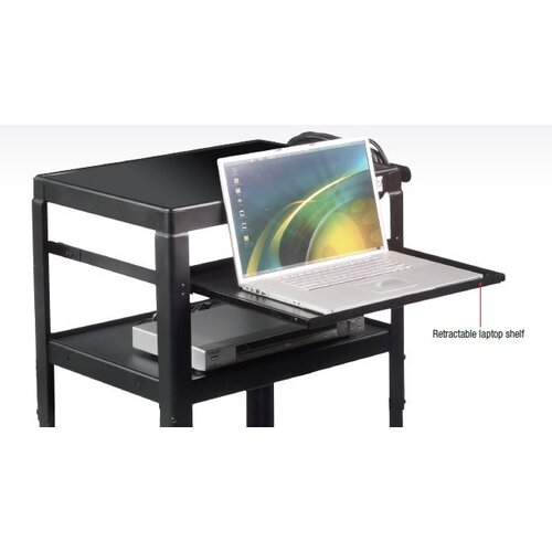 Balt Adjustable Laptop Shelf For Utility Cart
