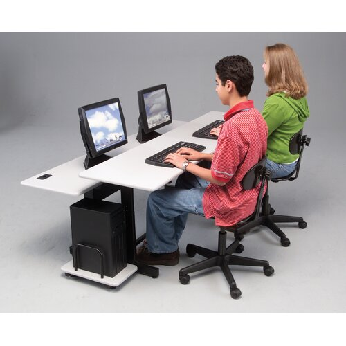 "Balt Split Level Dual Station 72"" W x 36"" D Task Table"