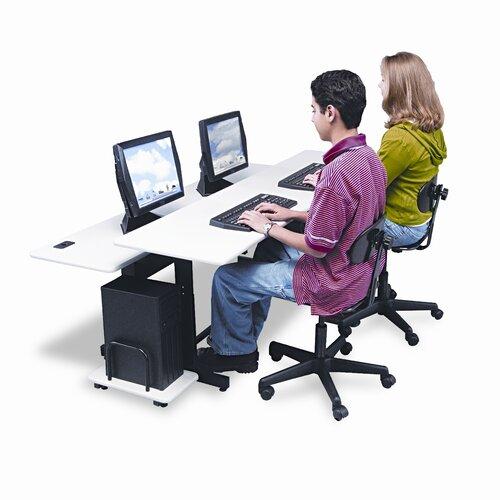 "Balt BALT Split-Level Computer 75"" W x 36"" D Training Table"