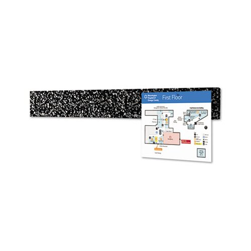 "Balt Best-Rite® Rubber-Tak 1.63"" x 2' Bulletin Board"