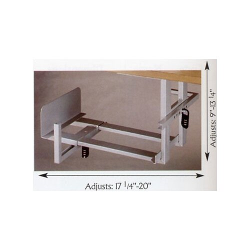"Balt 9 - 22.5"" H x 8.75 - 20"" W Desk Locking CPU Holder"