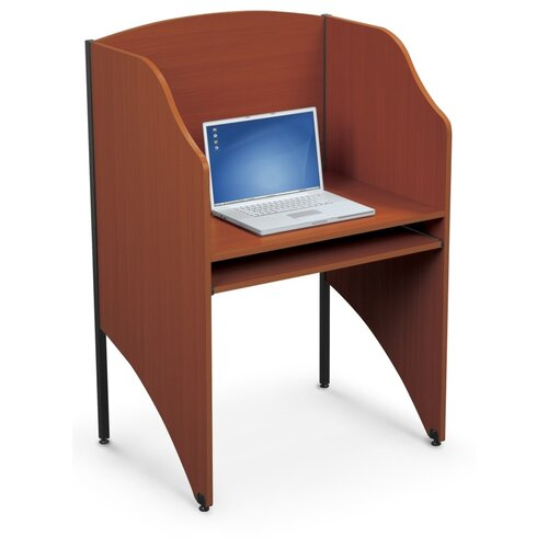 Balt Add-A-Carrel Cherry Laminate Study Carrel Desk