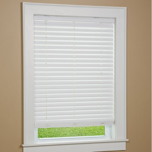 Green mountain vista gqg1039 one touch 2 cordless faux for 2 inch faux wood window blinds
