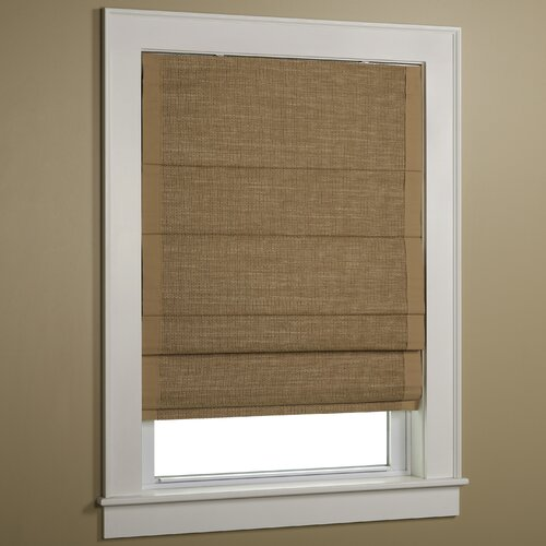 Woven Cane Paper Roman Shade with Border