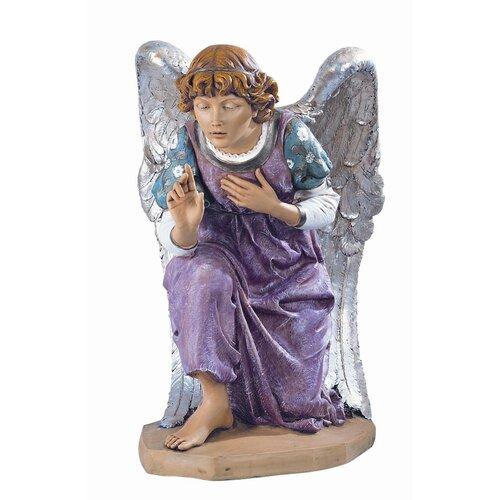 Scale Kneeling Angel Figurine Christmas Decoration