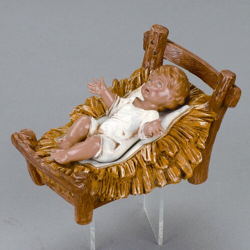 "Fontanini 12"" Scale Infant Jesus with Crib"