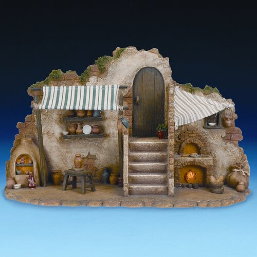 Three Piece Lighted Pottery and Bakery Shop Set