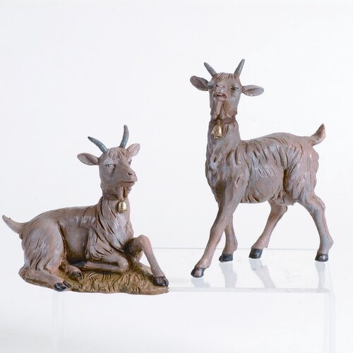 Fontanini Two Piece Goat Figurine Set