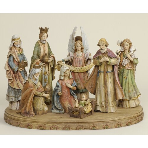 Roman, Inc. 8 Piece Nativity Set With Base