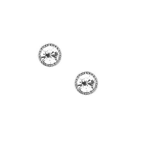 Moise Sterling Silver Crystal Stud Earrings