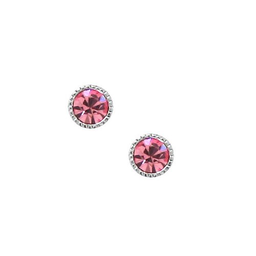 Moise Sterling Silver Crystal Stud Earrings